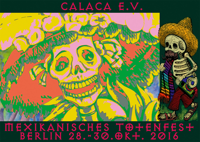 Calaca e.V. Einladung Totenfest Vorderseite