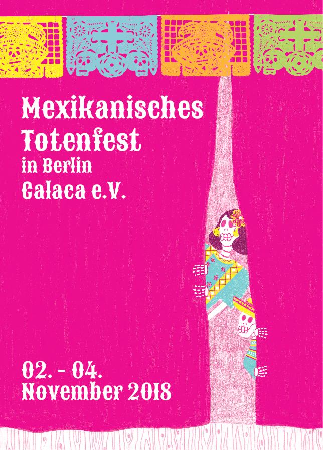 Vorderseite Mex. Totenfest Einladung 2018